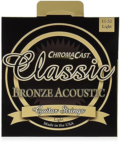 ChromaCast CC-GS-CB-L Classic Bronze Light Acoustic Guitar Strings, .011-.052 (Acoustic Classic)