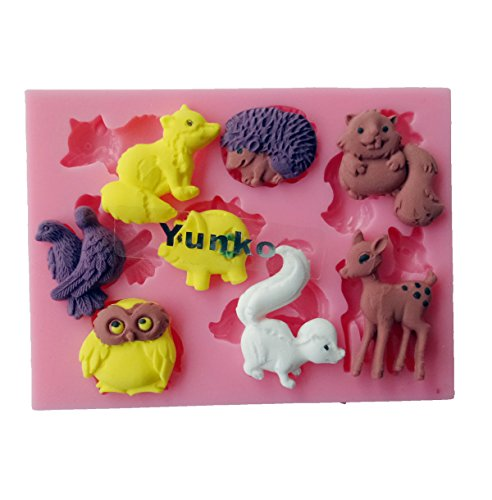 Silicone Decoration Chocolate Squirrel Hedgehog product image