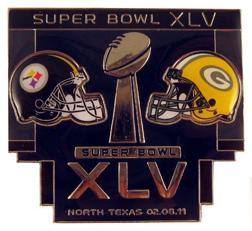 Green Bay Packers Super Bowl XLV Dueling - Pittsburgh Pin Helmet Steelers