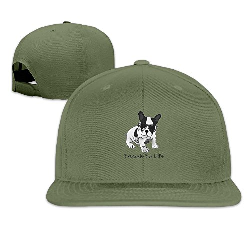 LOOKNAP Unisex Adult French Bulldog Cool Glass Plain Adjustable Snapback Hip Hop Baseball Cap - Chicago Snapback Bulls Australia