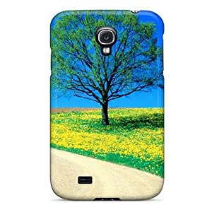 Brand New S4 Defender Case For Galaxy (flowers Spring Road)