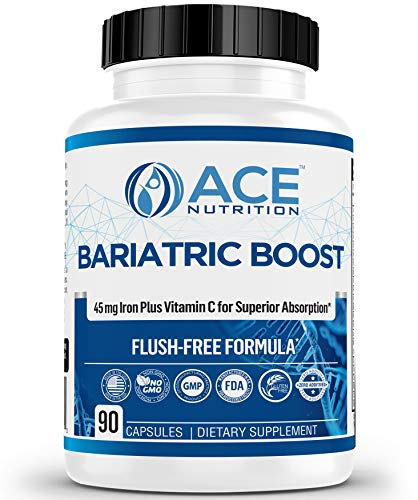 New & REFORMULATED Bariatric Boost One-A-Day Multivitamin 90 Day Supply with 45mg Iron Post Gastric Bypass Sleeve Surgery   Non-GMO, Gluten Free, Bariatric Multivitamin Made in USA  