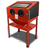 GHP 60 Gallons Vertical Sand Blaster Cabinet with 40 Lbs. Bottom Feed Hopper