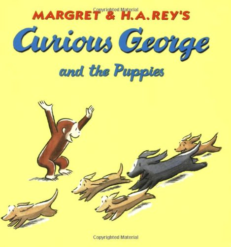 Curious George And The Puppies Book Cd H A Rey 0046442800655