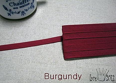 30Yds Bias Tape Poly Cotton trim 10mm Solid colour double fold Black
