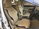 Autofact Pu Leather Car Seat Covers For Honda Amaze In Beige And Black Color