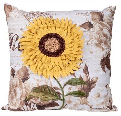Amazon YELLOW SUNFLOWER DECORATIVE PILLOW Better Homes And Classy Sunflower Decorative Pillows
