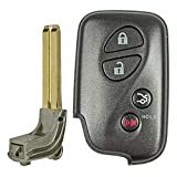 QualityKeylessPlus Replacement Keyless Entry Smart Prox Remote Fob with Key Blade for HYQ14AAB