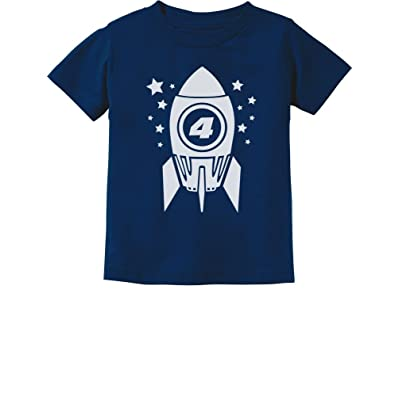 Gift For Four Year Old 4th Birthday Space Rocket Toddler Infant Kids