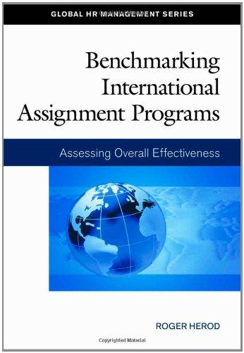 Benchmarking International Assignment Programs: Assessing Overall Effectiveness (Global HR Management Series)