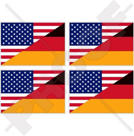 USA United States of America & GERMANY Flag, American & German, Deutschland 2