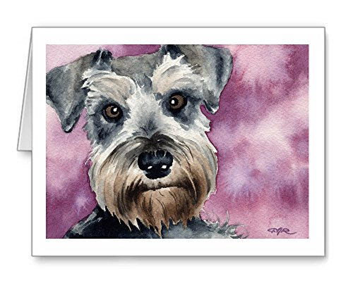 Miniature Schnauzer - Set of 10 Note Cards With Envelopes