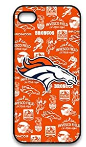 Ebaykey Custombox NFL Football Denver Broncos Best Durable Silicone Case Cover for iphone 4 4S