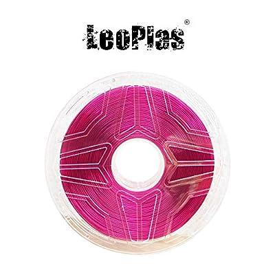 LeoPlas New Store USA Warehouse 1.75mm Transparent Translucent Purple PLA Filament 8 Colors 1Kg 2.2 Pounds FDM 3D Printer Pen Supplies Plastic Printing Material Polylactic Acid