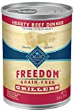 Image of Blue Freedom Grillers Adult Grain Free Hearty Beef Wet Dog Food 12.5Oz (Pack Of 12)
