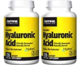 Jarrow Formulas Hyaluronic Acid Bioavailable, Clinically Documented Naturally Derived Hyabest Promotes Skin Hydration (120 Veggie Caps) Pack of 2