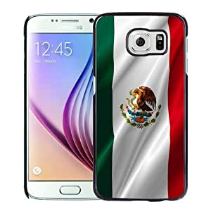 Beautiful Custom Designed Cover Case For Samsung Galaxy S6 With Mexican Flag Phone Case WANGJING JINDA