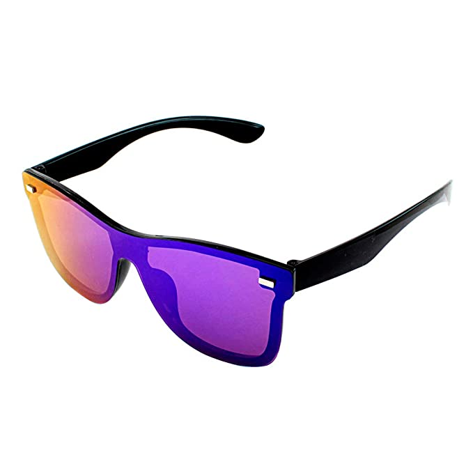 d70d7a36c1 Lentes de Sol Modelo con Micas Azul tornasol Protección UV 400 Armazon  color Negro