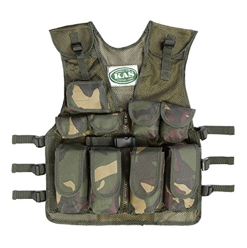 Kids Army Camouflage Combat Vest - Fits Ages 5-13 Yrs ()