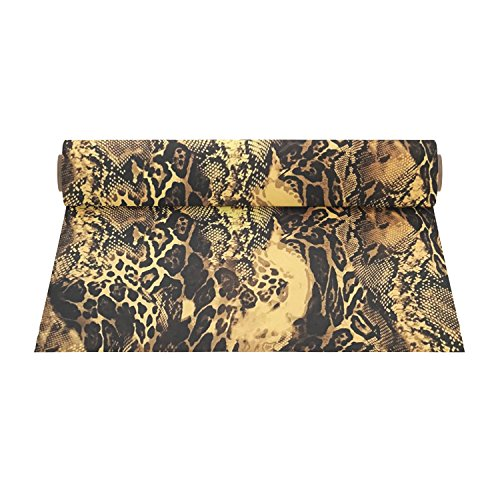 Firefly Craft Elastic Foil Snake Print Heat Transfer Vinyl | Animal Print HTV Vinyl | Iron On Vinyl for Cricut and Silhouette | Heat Press Vinyl for Shirts - 12