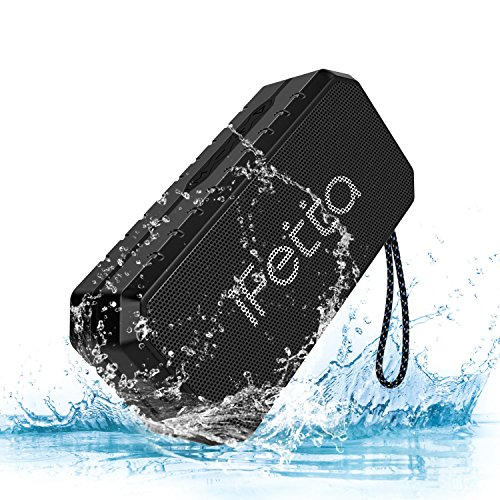 Portable Bluetooth Speaker, Ifecco IPX6 Waterproof Outdoor Wireless Speaker Mp3 Speaker Enhanced Bass Support TF Card FM AUX Mode for Beach Home