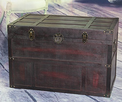 Vintiquewise-Antique-Style-Wooden-Steamer-Trunk