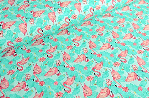 Jersey Kinder Stoff Shirt`s Pump Hosen Weiss Blätter