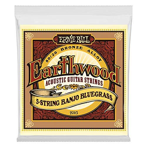 Sets Banjo - Ernie Ball Earthwood 5-string Banjo 80/20 Bronze Loop End Bluegrass Set, .009 - .020