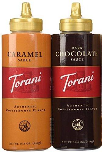 Torani 16.5oz 2-pack Sauce Sampler, Chocolate & Caramel