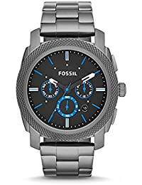 Men's Machine Quartz Stainless Steel Chronograph Watch, Color: Grey (Model: FS4931)