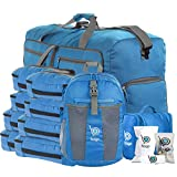 Bago Travel Luggage Set - 27'' Duffle - 8 Packing Cubes - Backpack & Toiletry Bag (Blue)