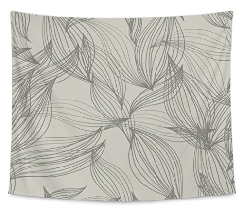Gear New Wall Tapestry, Floral Pattern For Textile In Vintage Style Wallpaper A Leaf Pattern, Medium, 80 inches wide by 68 inches tall