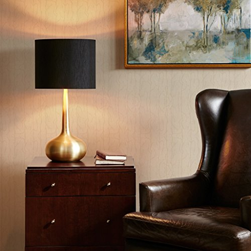 Urban Living Torchiere (Mid Century Modern Gold Metal Base Table Lamp with Black Shade - Includes Modhaus Living Pen)