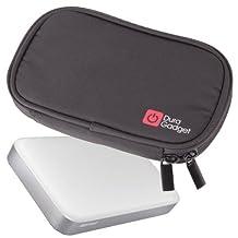 DURAGADGET Black Memory Foam Case With Dual Zip For Buffalo MiniStation Thunderbolt 1TB USB 3.0 Portable Hard Drive & Ministation Air 500GB USB 3.0 & Wireless Portable Storage