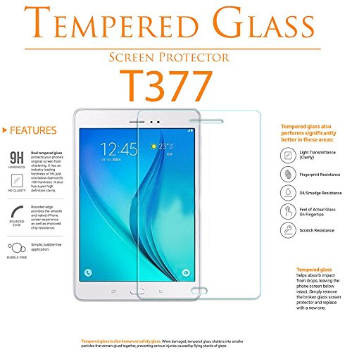 2 Pack Galaxy Tab E 8.0 Inch Screen Protector - YCXBOX Tempered Glass - Anti-Scratch 9H Hardness HD Clear Screen Protector for Samsung Galaxy Tab E 8.0 (SM-T377)