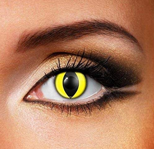 Cosplay Eyes Multi-Color Contact Lenses Cosplay Eyes Cute Colored Charm and Attractive Blends Cosmetic Makeup Eye - Contact Lenses Red Halloween For