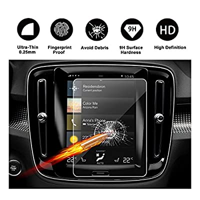 2019 Volvo XC40 Sensus Navigation System 8.7-Inch Touch Screen Protector, R RUIYA HD Clear TEMPERED GLASS Protective Film Against Scratch High Clarity