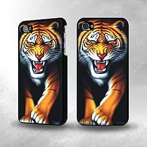 Apple iPhone 4 / 4S Case - The Best 3D Full Wrap iPhone Case - Tiger Punk Rock