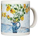 Claude Monet - Nasturtiums in Blue Vase - 14oz Coffee Mug