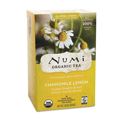 (Numi Organic Tea Fair Trade Chamomile Lemon, Herbal Teasan, 18-Count Tea Bags)