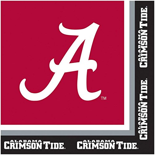 Alabama Crimson Tide Party Bundle Lunch Napkins
