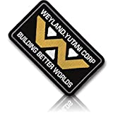 "[Single Count] Custom, Cool & Awesome {4'' x 2'' Inches} Rectangle Tactical Morale ''Weyland. Yutani Corp Building Better Worlds'' Alien Crew Cap (Gaming) Hook Fastener Patch ""Yellow, White, & Black"""
