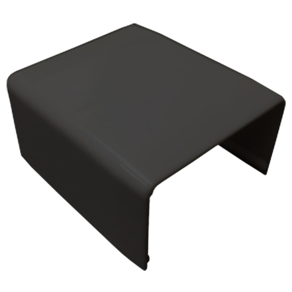 Joint Cover for Medium (MED1) Raceway - 1 Piece - Color: Black by Electriduct (Image #1)