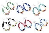 HANDMADE MULTI COLOR SEED BEADS FASHION JEWELRY CHRISTMAS SALE OF EARRINGS WHOLESALE LOT OF 6 PAIRS