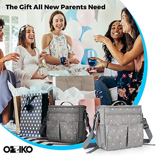 Parents Stroller Organizer Bag - Fits All Baby Stroller Models. Travel Bag with Shoulder Strap for Carrying Bottles, Diapers, Toys & Snacks. Insulated Cooling System, Cup Holder & Storage Pockets by Ozziko (Image #6)