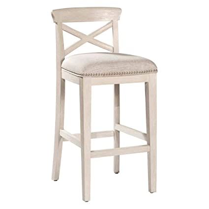 Amazoncom Hillsdale Bayview 26 Counter Stool In White Wire Brush