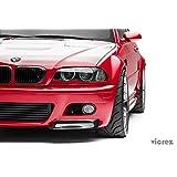 Vicrez BMW M3 E46 2000-2006 VZ5 Carbon Fiber Front Bumper Lip Splitters - vz100421