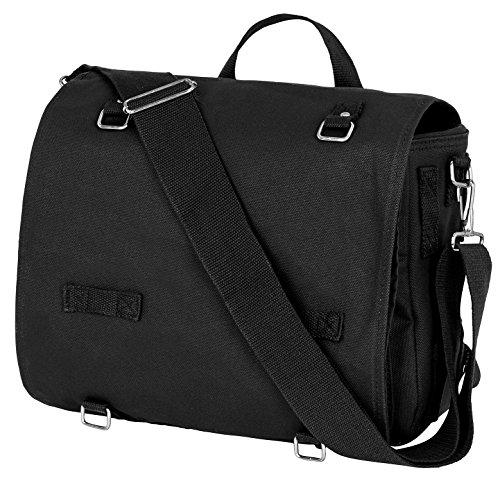 Kampftasche Umhängetasche Canvas Bag gross Schwarz OneSize