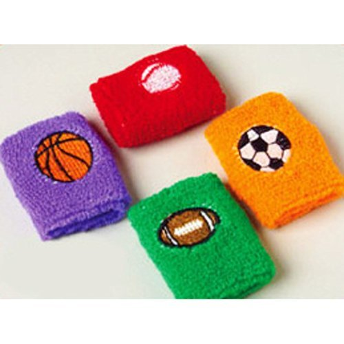 Dozen Sports Wristbands assorted colors product image