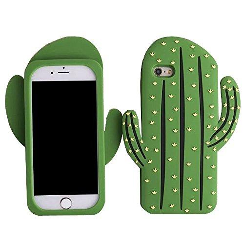 SKS Distribution® Súper Caso lindo Tropical Cactus de silicona suave para el Apple iPhone 6 / 6S (4.7)